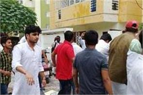 gorakhpur incident students throw eggs tomatoes at siddhartha house