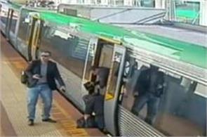 passengers push metro to rescue man stuck in platform gap