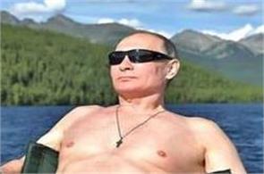 russian president vladimir putin siberia shirtless fishing vacation