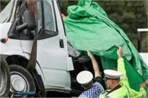 uk road accident indian among 8 dead as 2 trucks crush mini bus