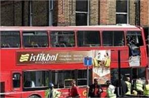 londondouble decker bus smashes into shop