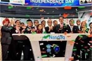 nasdaq commemorates india independence day