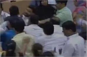 a clash between the councilors and the shiv sena