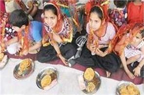 various fruits meet the worship of different girls in navaratri