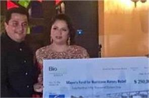 indian american couple donates 250 000 for hurricane harvey relief