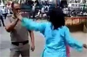 suspended women judge who slapped and slapped uniform on police constable