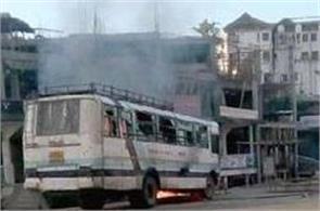 violence  arson during clashes in arunachal pradesh