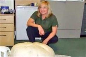 ranger finds giant mushroom in scotland