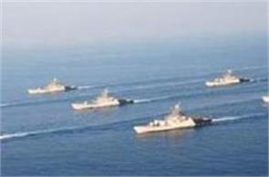 two naval ships were deployed in the western arabian sea  indian ocean