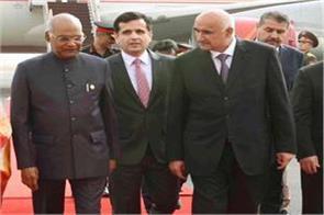 president kovind reached tajikistan for high level talks