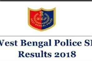 wb police si result 2018