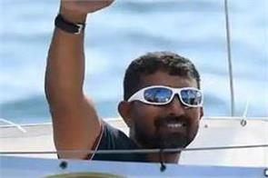 navy commander abhilash returned in india