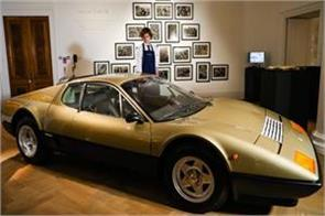gold ferrari and 24 carat bedding go up for auction at sotheby s