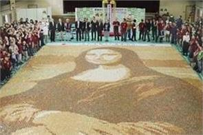 world s biggest painting of monalisa is made by chips in japan