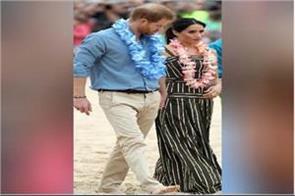 australia royal couple seen on the banks of barefoot