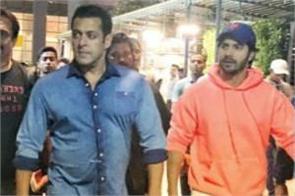 varun dhawan spotted at mumbai airport with salman khan