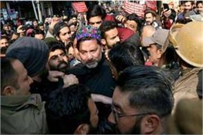 yaseen malik arrested in lal chowk kashmir