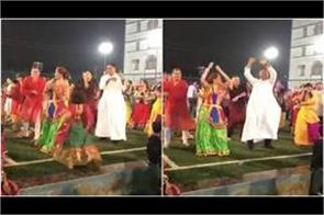 pastor has done garba dance with people you will also be happy seeing video