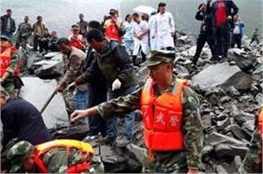 china landslide 6 000 people in safe place
