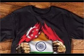 singapore indian reprimanded by police for posting image of torn flag