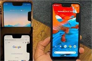 google pixel 3 xl bug displays an annoying second notch