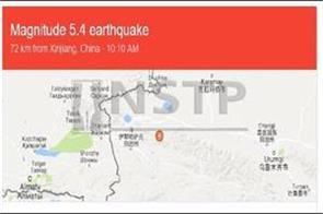 5 4 magnitude earthquake in northwestern china