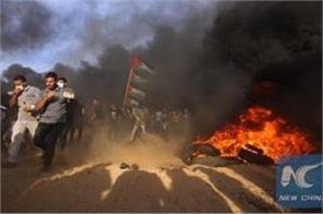 three killed and 376 injured in israel gaza border clashes