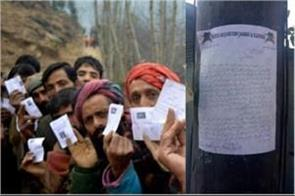 bjp candidates take nomination back in kashmir