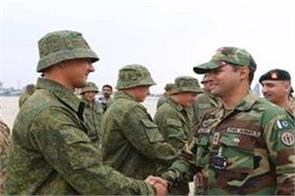 russian and pakistani soldiers will do military exercises next week