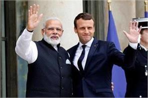 pm narendra modi and french president emanuel macroon will assume the award