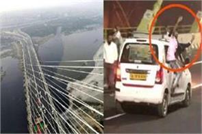 delhi signature bridge selfie social media