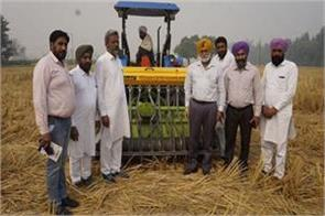 jaswinder  santokh singh built  new machine wheat sowing  parli farm