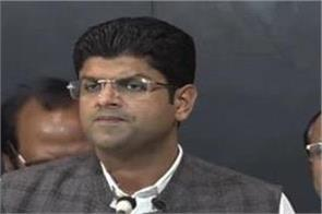 dushyant s abbey is a big war bjp s language is spoken on the assembly table
