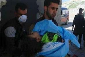 terrorists target in aleppo city with toxic gas
