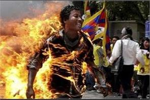 tibetan dies of self immolation in protest of china
