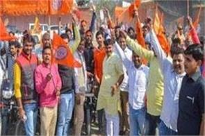 thousands of shiva soldiers arrived in ayodhya