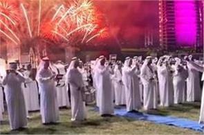 diwali frevor in dubai celebrates light festival with iidian national anthem
