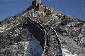 china s great wall is  crumbling  architects using drones to save it