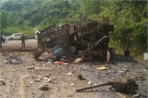 naxals trigger a blast on a bus near bacheli in chhattisgarh s dantewada