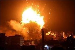 israeli air strike destroys hamas tv building in gaza