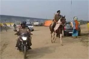ssp riding on horse to inspect ghats