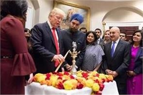trump host celebration of diwali at white house