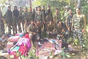 chaibasa encounter security forces naxalites huge amounts arms recovered