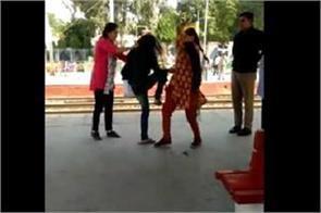 girl got beaten at sonipat railway station video viral