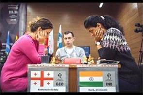 fide women s world championship 2018 harika in top 16