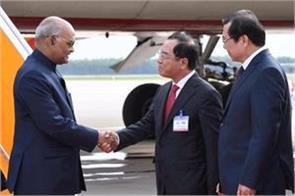 president ramnath kovind arrived in vietnam during a three day visit