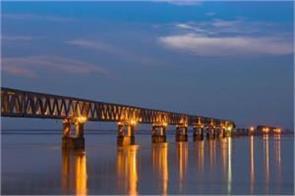 pm modi inaugurates country s longest bridge