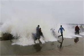 phethai cyclone today storm hits the shores of andhra pradesh