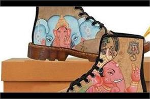american company printed lord ganesha pic on shoes