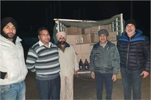 recovered 200 cases of illegal alcohol bolero driver fled